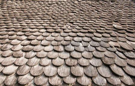 Textura de madeira sem costura telhas de telhado do templo