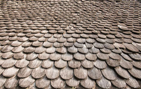 Texture of seamless wooden temple roof tiles