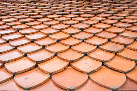 Texture of seamless orange roof tiles