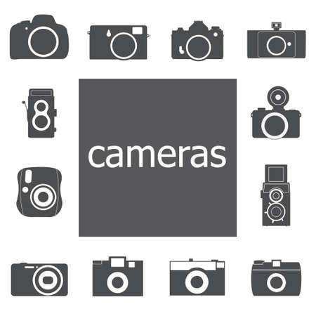 Camera icon set  Illustration