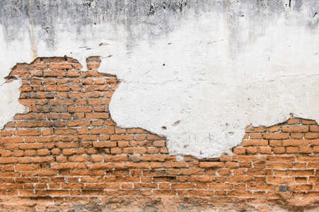 white exposed brick concrete wall. Banque d'images