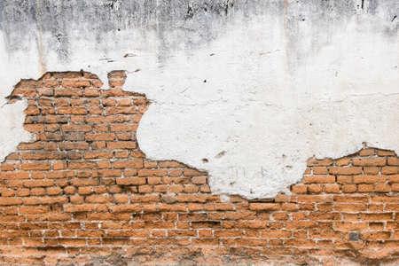 ladrillo: blanco expuesto ladrillo muro de hormigón.