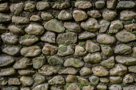 Texture of rock stone wall. Stock Photo