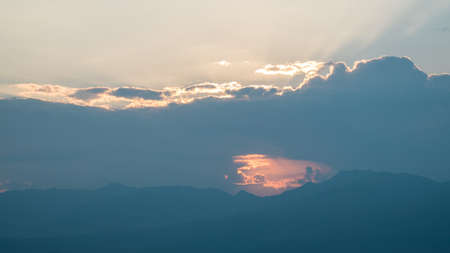 Last light scene of the day at Banpabongpieng, Chaingmai, Thailand.