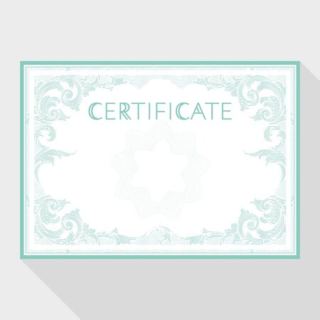 attestation: Certificate design template in baroque style