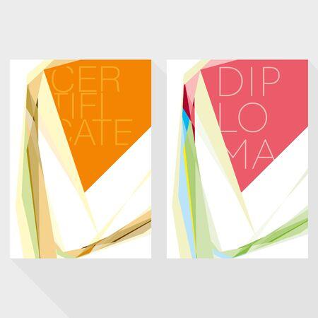 attestation: Diploma design template in modern style Illustration