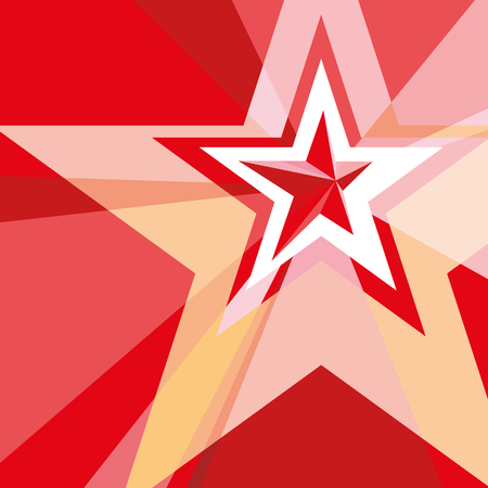 red star: Red Star with the verge on the abstract background