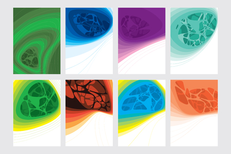 naturally: Abstract colored modern template for calendar, brochures, poster, biomorphic background Illustration