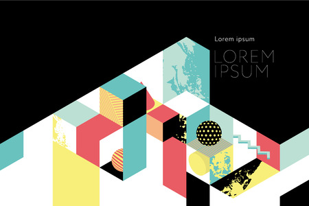 Template for book cover, calendar, brochures, poster, booklet. Abstract colored modern geometric background Ilustrace
