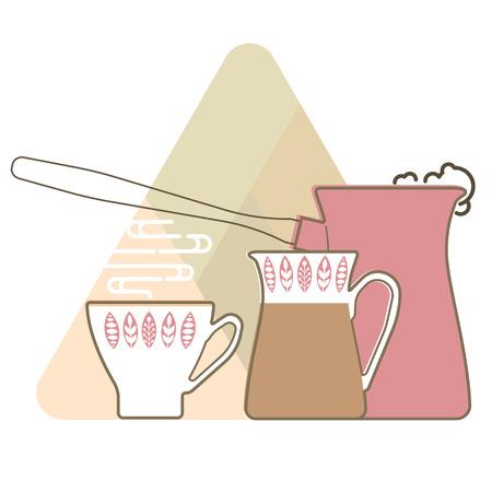 jug: Coffee set, coffee cup, coffee machine and milk jug