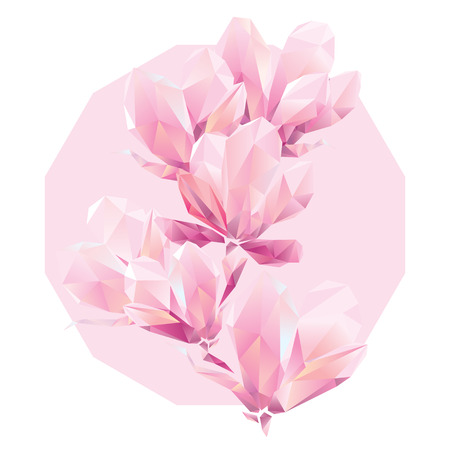 Crystal Pink orchid, polygon flowers, beautiful floral background for ads