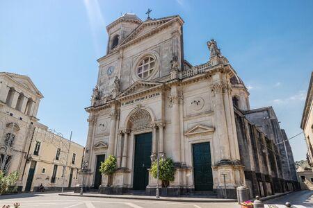 사슬의 가장 거룩한 어머니의 성역, Aci Catena (시칠리아) 스톡 콘텐츠 - 85199669