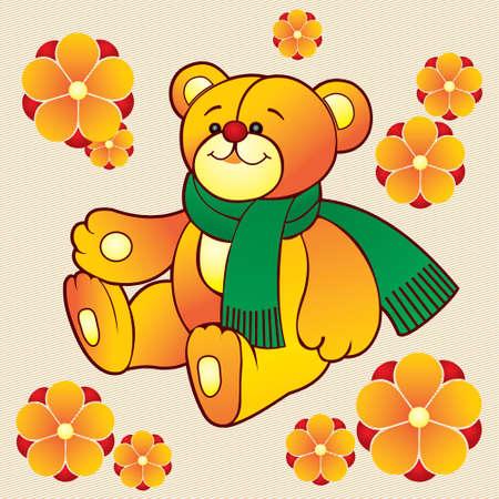 Vector teddy bear toy