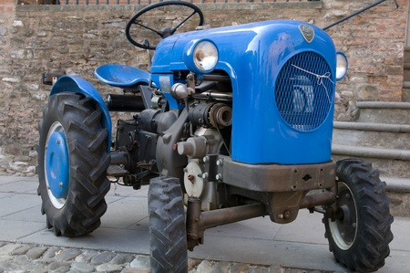 lambrusco: Old model of tractor; renovated to be in superb condition