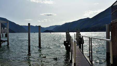 Picture taken in summer of the Como lake from Bellagio