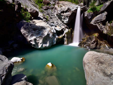 Waterfalls of Lanterna creek Archivio Fotografico