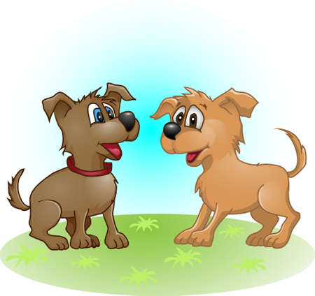 funny dog  puppy Vector