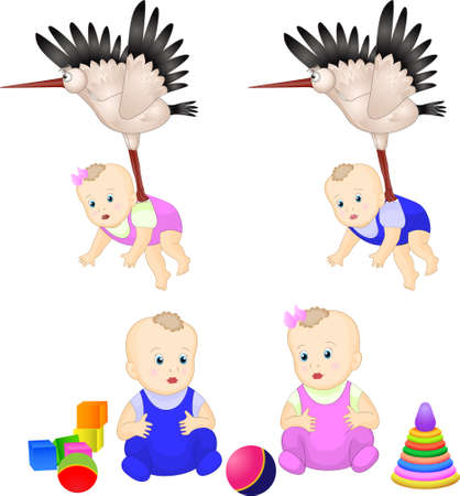 cute kids. toys. vector illyustatsiya Stock Vector - 20700671