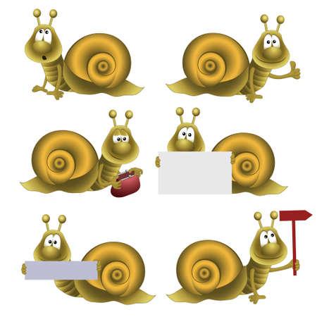 funny snail. fully editable image Vector