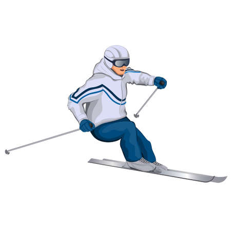 move gun: skier on the move illustration