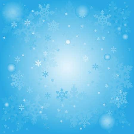 vector illustratie Winter abstracte achtergrond met sneeuwvlokken Stock Illustratie