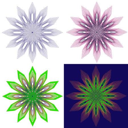 ronde kantpatroon. ontwerp element. vector illustraties