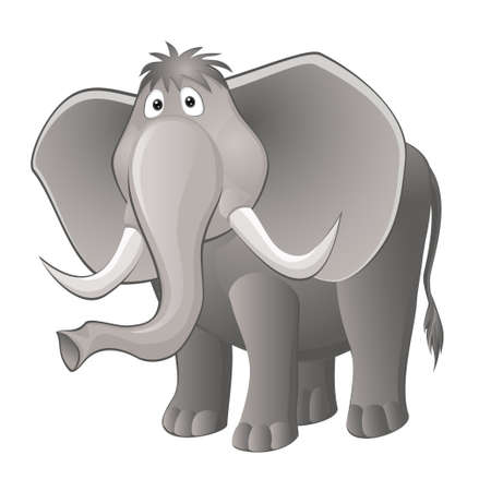 funny elephant. vector illustration EPS 10 Vector
