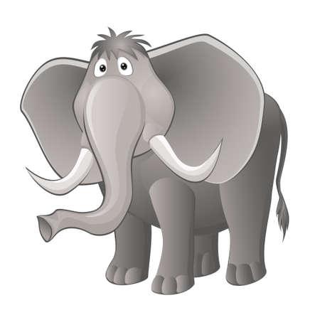grappige olifant. Vector illustratie eps 10