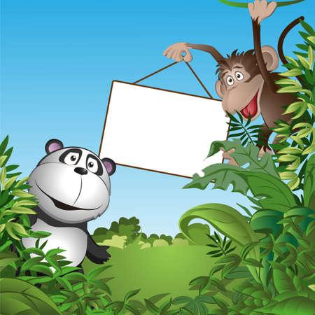 Groep grappige kleine dieren. vector illustratie