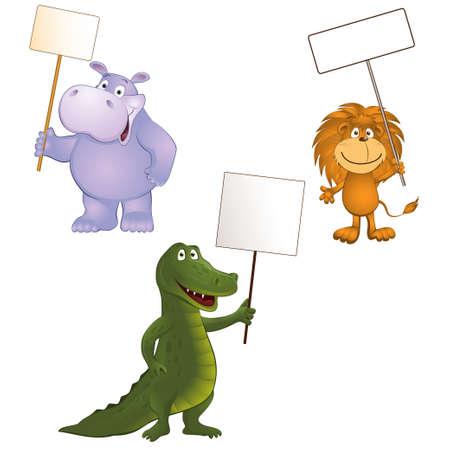 Groep van grappige dieren Stock Illustratie