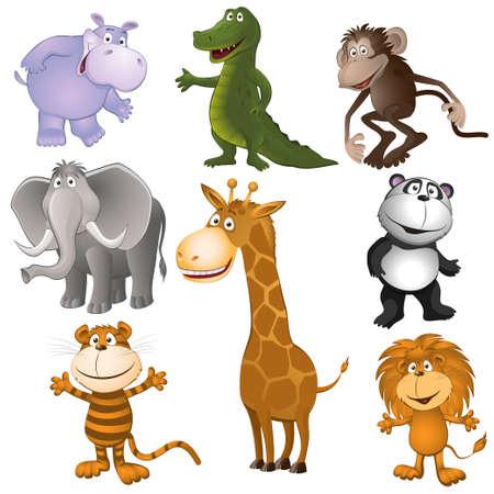 Groep grappige kleine dieren