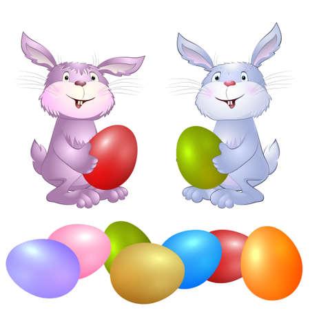 konijn met paaseieren
