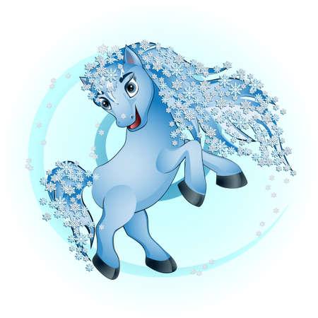 animated film: horse winter
