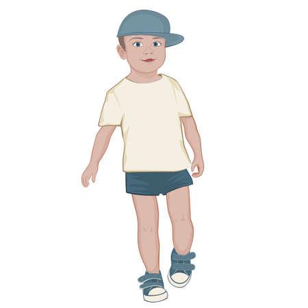 kind vector afbeelding op een witte achtergrond