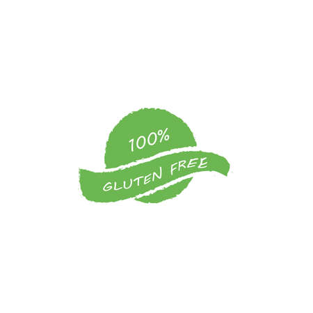 100% Gluten Free food label. Vector illustration
