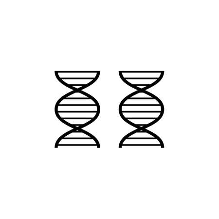 DNA icon, DNA icon vector, in trendy flat style isolated on white background. DNA icon image, DNA icon illustration