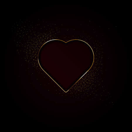 hearts made with golden sparkles background Vector illustration