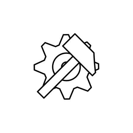 Gear icon, factory gear Vector icon Ilustrace