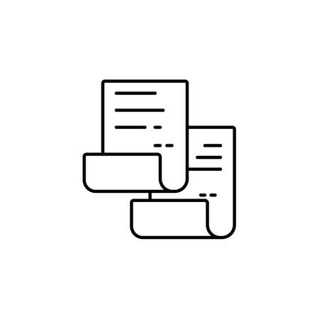 Copy icon. Copy and paste vector icon Replication file outline symbol. Duplicate app sign. Simple User interface element. vector.
