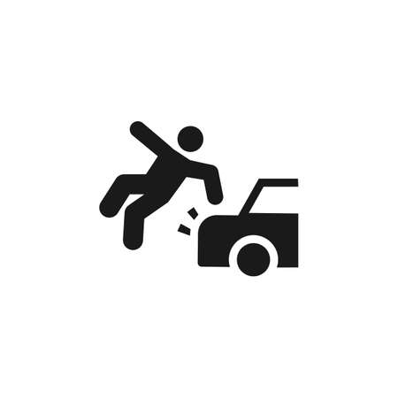Accident, car, injure, liability icon - Vector. Insurance concept vector illustration. on white background