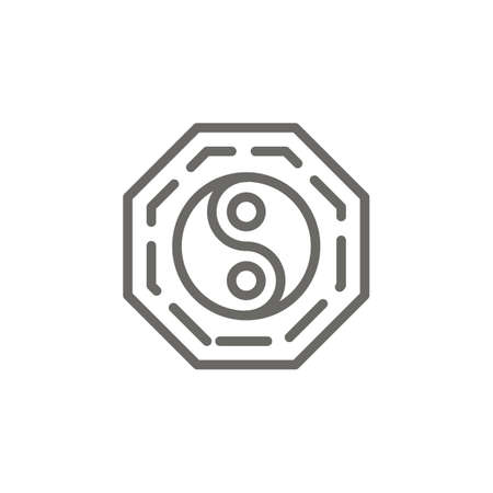 Yin yang symbol vector icon. Spiritual concept vector illustration. 矢量图像