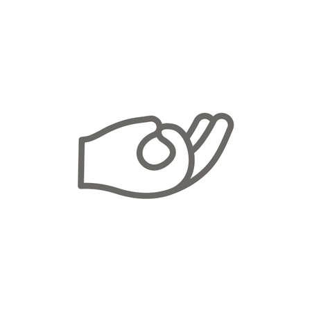 Meditation symbol vector icon. Spiritual concept vector illustration. Ilustrace