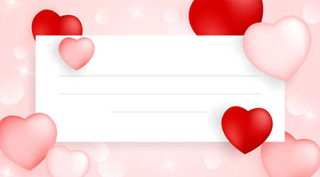 Valentines day empty card background with heart. Vector illustration. Wallpaper, flyers, invitation, posters, brochure, banners. Valentines day with heart empty white background.