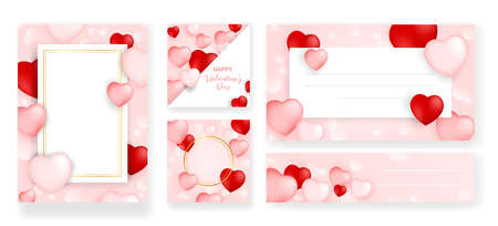 Set of perfect wedding templates with pattern theme. Ideal for Save The Date, baby shower, mothers day, valentines day, birthday cards, invitations. Vector illustration for pretty design