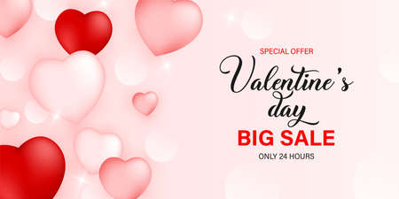Valentines Day Love and Feelings Sale Background Design. Vector illustration EPS10. Valentines day big sale. Big sale vector illustration
