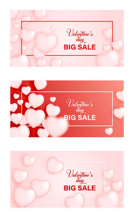 Valentines day sale background with heart. Vector illustration. Wallpaper, flyers, invitation, posters, brochure, voucher,banners.