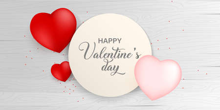 Valentines day paper background with white wood Vector illustration. Wallpaper, flyers, invitation, posters, brochure, voucher,banners.