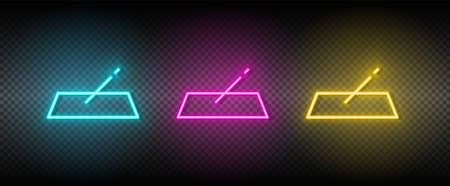 fill, form vector icon yellow, pink, blue neon set. Tools vector icon