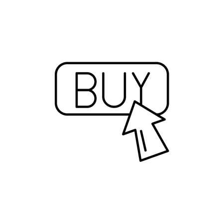 E-commerce button, arrow outline vector icon.