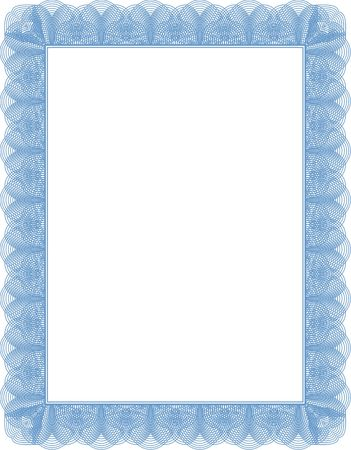 diploma border: Certificate diploma template. Blank Stock Photo